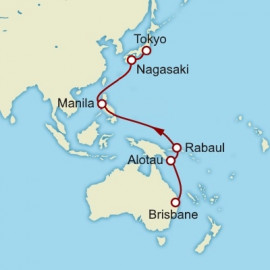 Brisbane to Yokohama Cunard Cruise