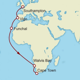 Southampton to Cape Town Itinerary