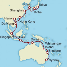 Sydney to Tokyo World Sector Itinerary