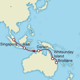 Brisbane to Singapore World Sector Cunard Cruise