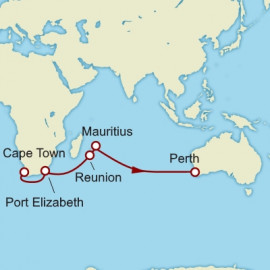 Cape Town to Perth World Sector Cunard Cruise