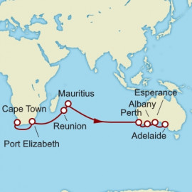 Cape Town to Adelaide World Sector Itinerary