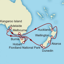 New Zealand and Tasmania Cunard Cruise