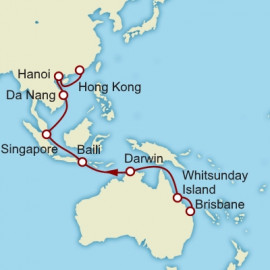 Brisbane to Hong Kong World Sector Cunard Cruise