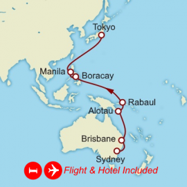 Fly Stay Far East Cunard Cruise