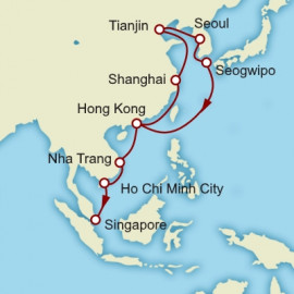 Hong Kong to Singapore World Sector Itinerary