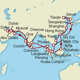 Dubai Far East Round Trip Cunard Cruise