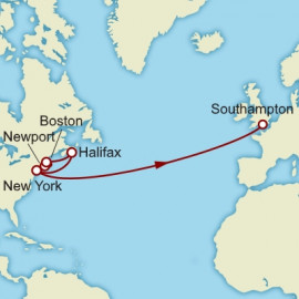 New York to Southampton over 14 nights on Queen Mary 2 Cunard Cruise