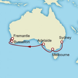 Sydney to Fremantle World Sector Itinerary