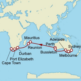 Sydney to Cape Town World Sector Cunard Cruise