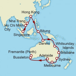 Singapore to Fremantle Cunard Cruise