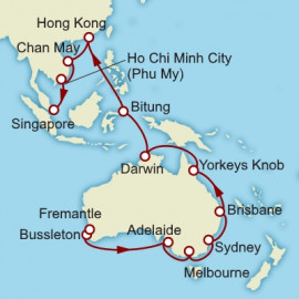 Fremantle to Singapore World Sector Cunard Cruise