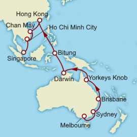 Melbourne to Singapore World Sector Cunard Cruise