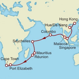 Hong Kong to Cape Town World Sector Cunard Cruise