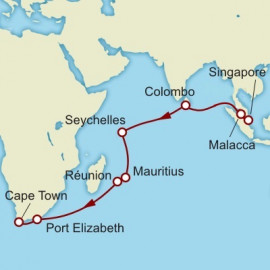 Singapore to Cape Town World Sector Cunard Cruise