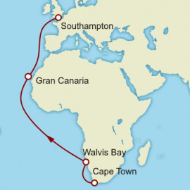 Cape Town to Southampton Cunard Cruise