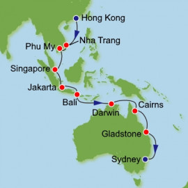 Hong Kong to Sydney