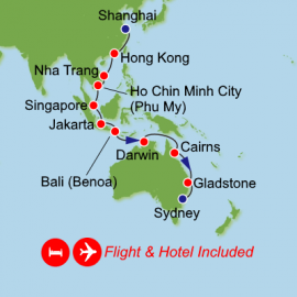 Fly Cruise Holiday Shanghai to Sydney Itinerary
