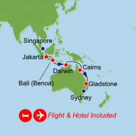 Fly Tour Cruise Holiday Singapore to Sydney
