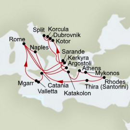 Mediterranean Legends and Ancient Empires Itinerary