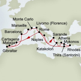 Ancient Empires and Mediterranean Rivieras Itinerary