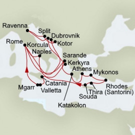 Mediterranean Legends and Ancient Empires Holland America Line Cruise