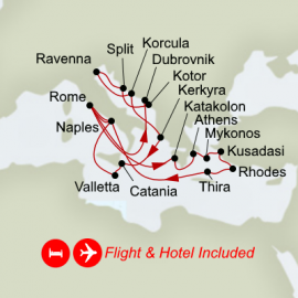 Fly Hotel and Mediterranean Legends plus Ancient Empires Itinerary
