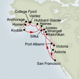 EXC In-Depth Ultimate Alaska and Pacific Northwest Adventurer Holland America Line Cruise