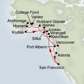 EXC In-Depth Ultimate Alaska and Pacific Northwest Adventurer Itinerary