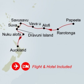 Fly Cruise Holiday South Pacific Holland America Line Cruise