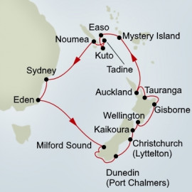 EXC In-Depth New Zealand and Coral Sea Odyssey Holland America Line Cruise
