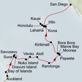 South Seas South Pacific Crossing and Hawaii  Holland America Line Cruise
