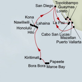 South Pacific Crossing Hawaii and Mexico Collector Holland America Line Cruise