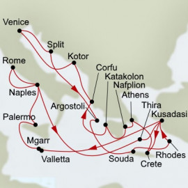 Adriatic Dream and Greek Odyssey Itinerary