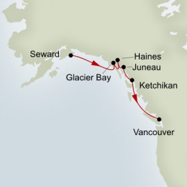 Glacier Discovery Southbound Holland America Line Cruise