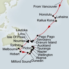 South Pacific and Australia and New Zealand Collector Holland America Line Cruise