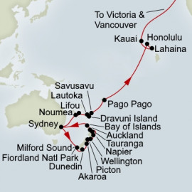 New Zealand and South Pacific Crossing Collector Holland America Line Cruise