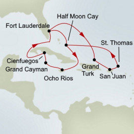 Authenic Cuba and Eastern Caribbean Holiday Holland America Line Cruise