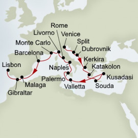 Adriatic Dream and Mediterranean Rivieras Itinerary