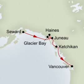 Glacier Discovery Southbound Itinerary