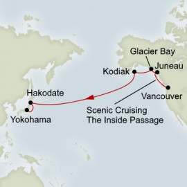 North Pacific Crossing Holland America Line Cruise