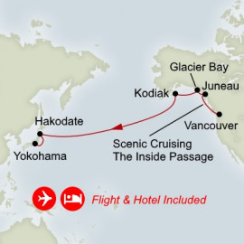 Fly Cruise Holiday North Pacific Crossing Itinerary