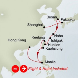 Fly Stay Cruise Holiday Taiwan and Japan Itinerary