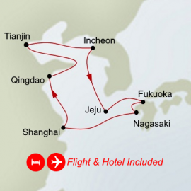 Fly Cruise China South Korea and Japan Itinerary