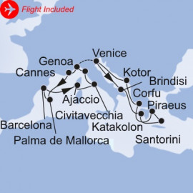 Grand Mediterranean Fly MSC Cruises Cruise