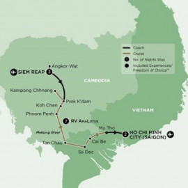 Siem Reap to Ho Chi Minh City Luxury River Mystery River Cruises Cruise