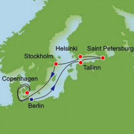 Scandinavia Russia and Baltic from Warnemunde Itinerary