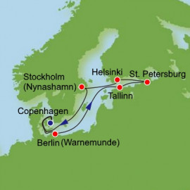 Scandinavia and Russia and Baltic Itinerary