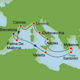 Grand Mediterranean from Barcelona Itinerary