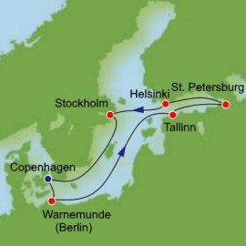 Scandinavia Russia and Baltic from Copenhagen Itinerary